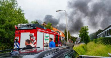 Forse rook bij brand in leegstaande loods | Kruisdijk Poortugaal