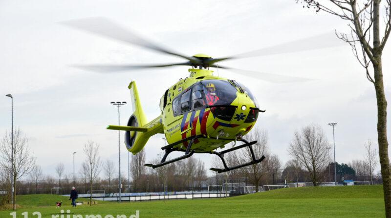 Traumahelikopter ingezet voor medische noodsituatie in woning   van Leeuwenhoekstraat Poortugaal